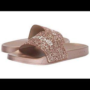 BeBe Rose Gold Sandals